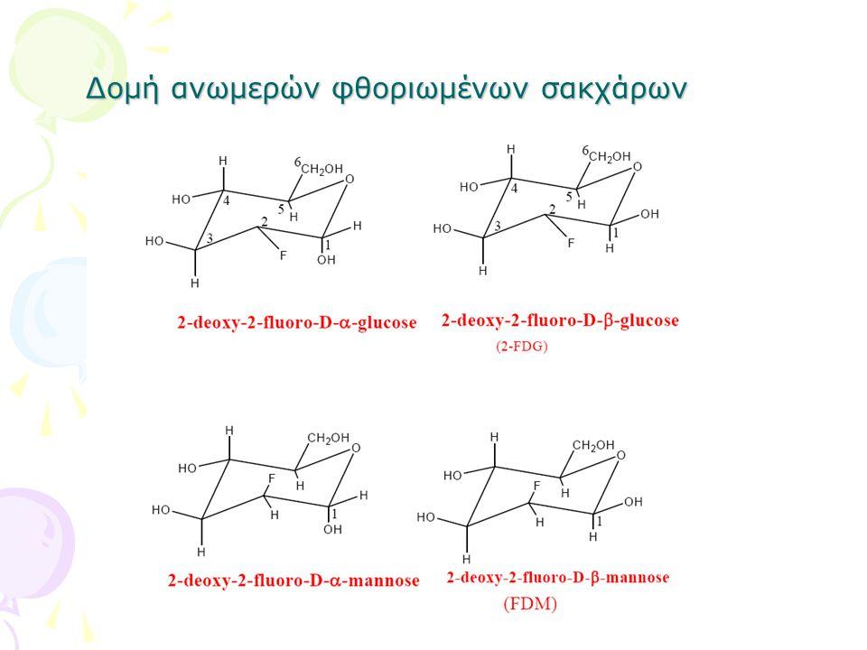 Δομή ανωμερών φθοριωμένων σακχάρων