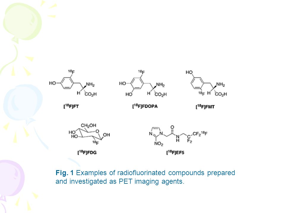 Fig. 1 Examples of radiofluorinated compounds prepared and investigated as PET imaging agents.