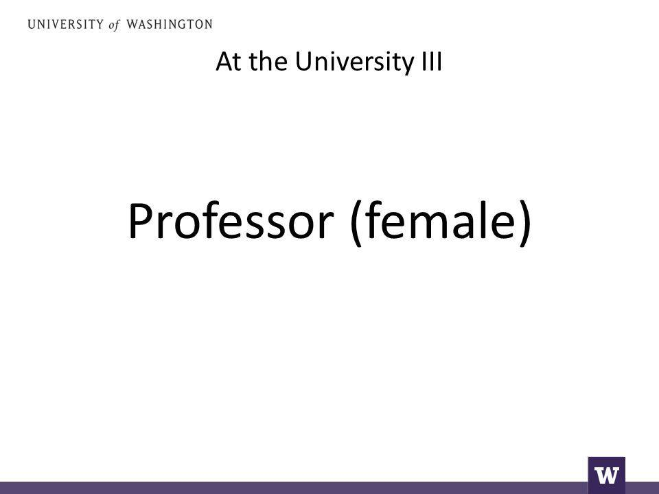 At the University III Professor (female)
