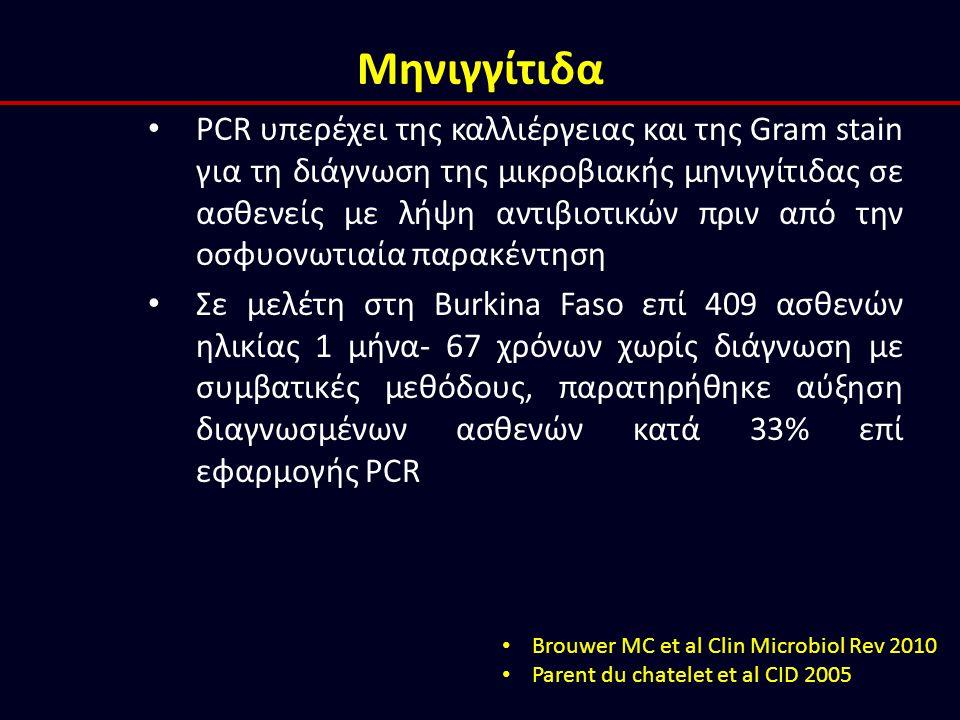 Μηνιγγίτιδα PCR υπερέχει της καλλιέργειας και της Gram stain για τη διάγνωση της μικροβιακής μηνιγγίτιδας σε ασθενείς με λήψη αντιβιοτικών πριν από τη