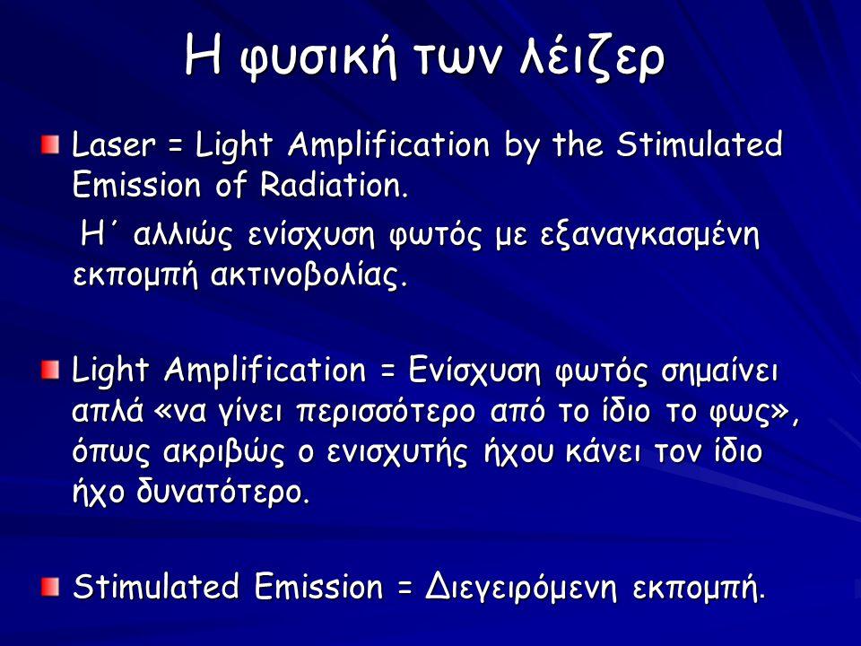 Laser light - a special wave Οι ακτίνες λέιζερ έχουν τις ακόλουθες ασυνήθιστες ιδιότητες: ΜονοχρωματικότηταΚατευθυντικότητα Σύμφωνη ακτινοβολία Λαμπρότητα