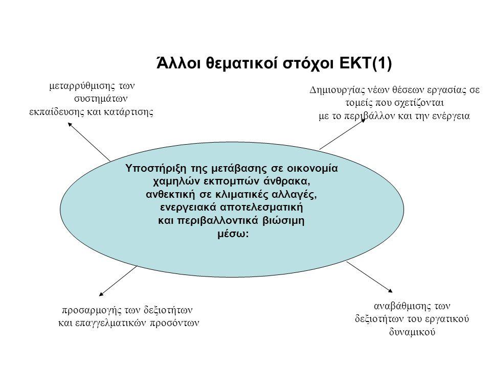 Άλλοι θεματικοί στόχοι ΕΚΤ(2) Βελτίωση της προσβασιμότητας στις ΤΠΕ καθώς και της χρήσης και ποιότητας αυτών μέσω: ανάπτυξης του ψηφιακού αλφαβητισμού επένδυσης στην ηλεκτρονική ένταξη, στις ηλεκτρονικές δεξιότητες και σε σχετικές επιχειρηματικές δεξιότητες