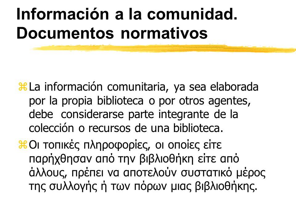 Información a la comunidad.
