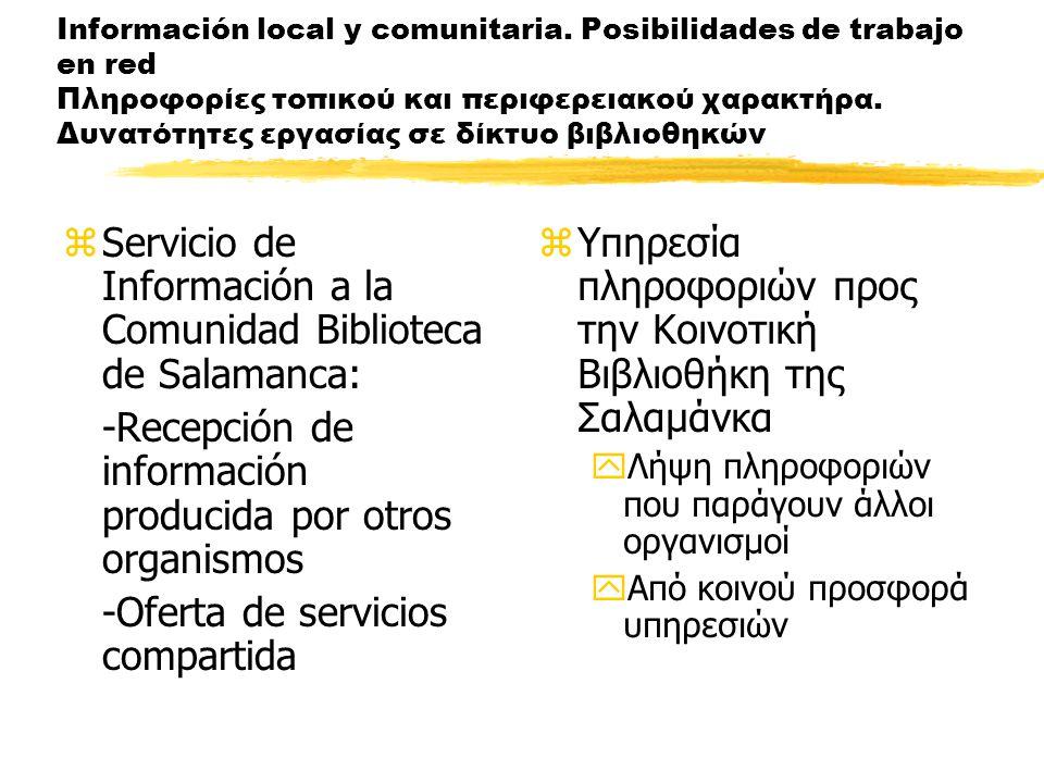 Información local y comunitaria.