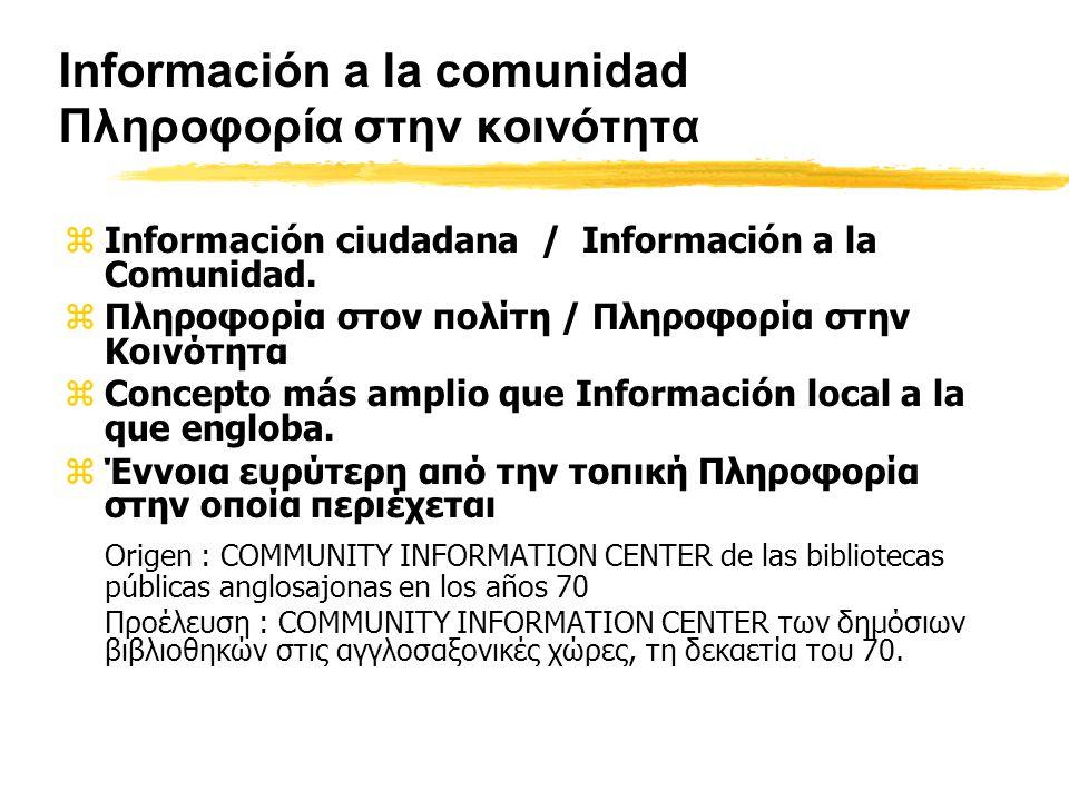 Información a la comunidad Πληροφορία στην κοινότητα zInformación ciudadana / Información a la Comunidad.