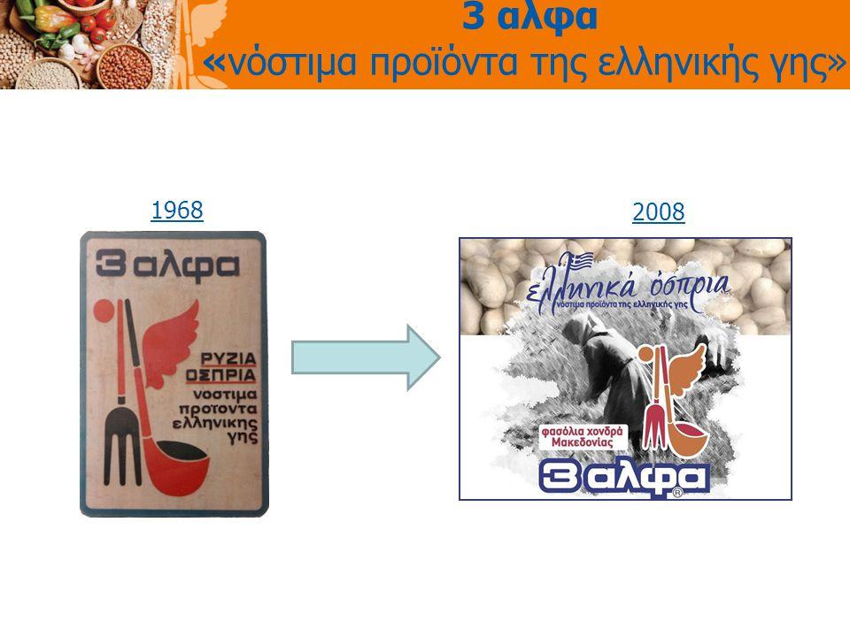 3 αλφα «νόστιμα προϊόντα της ελληνικής γης» 1968 2008