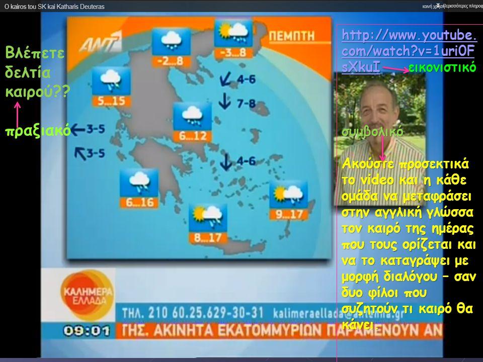 Φύλλο ροής δραστηριότητας ΙΙ http://www.youtube. com/watch?v=1uri0F sXkuIhttp://www.youtube. com/watch?v=1uri0F sXkuI εικονιστικό http://www.youtube.