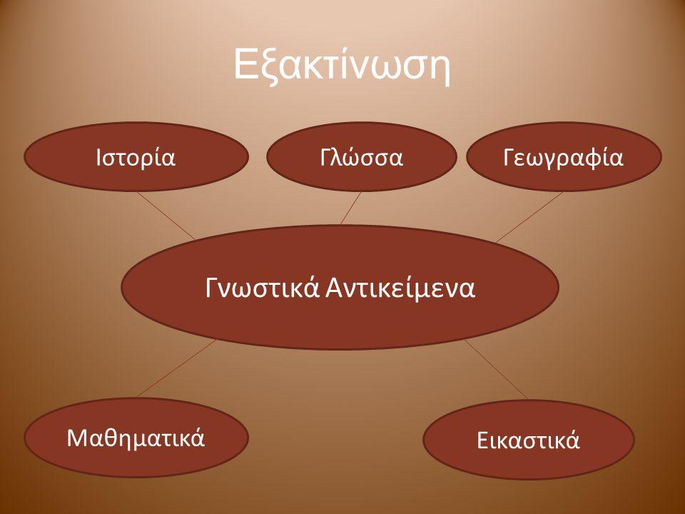 Εξακτίνωση Γνωστικά Αντικείμενα ΙστορίαΓλώσσαΓεωγραφία Μαθηματικά Εικαστικά