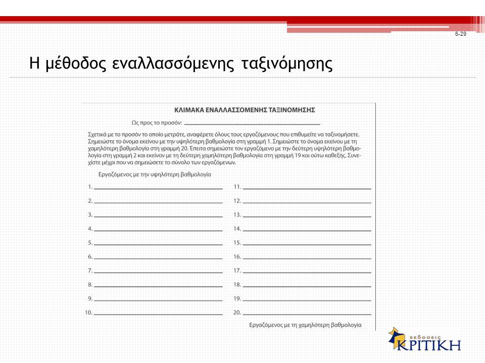 Η μέθοδος εναλλασσόμενης ταξινόμησης 6-29
