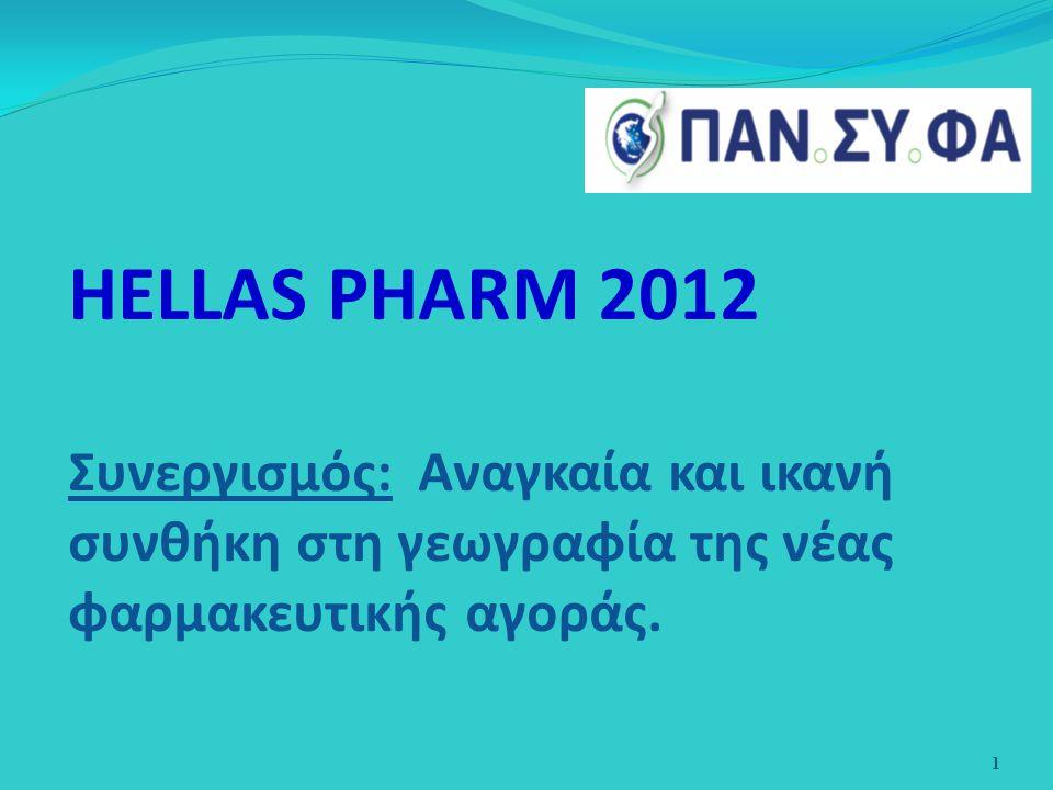 HELLAS PHARM 2012 Συνεργισμός: Αναγκαία και ικανή συνθήκη στη γεωγραφία της νέας φαρμακευτικής αγοράς. 1
