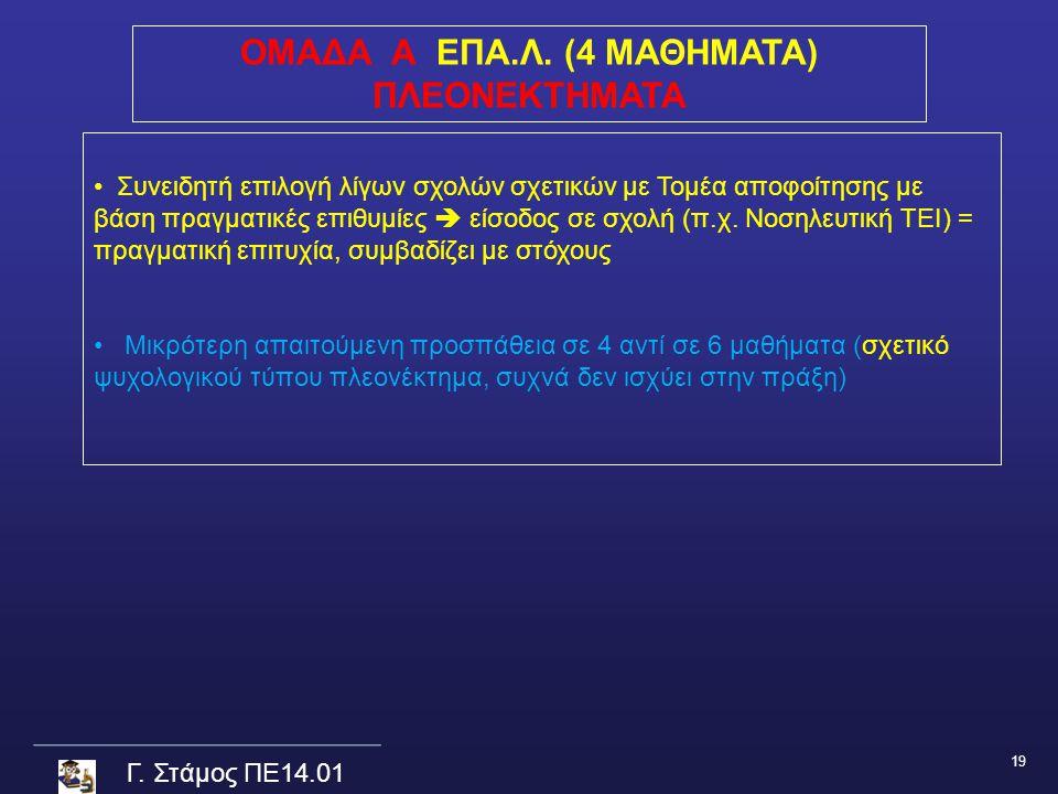 Γ.Στάμος ΠΕ14.01 ΟΜΑΔΑ Α ΕΠΑ.Λ.