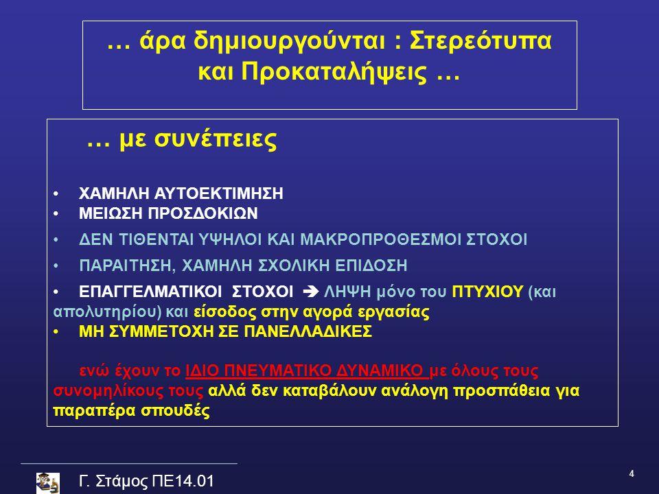 Γ.Στάμος ΠΕ14.01 … ΑΡΑ ….