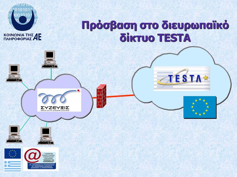 Πρόσβαση στο διευρωπαϊκό δίκτυο TESTA