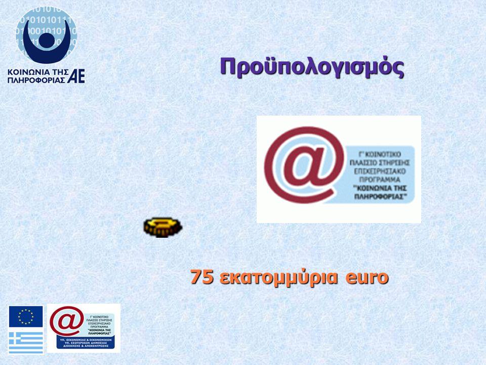 75 εκατομμύρια euro Προϋπολογισμός