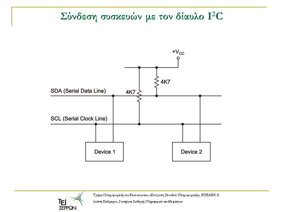 Σύνδεση συσκευών με τον δίαυλο Ι 2 C