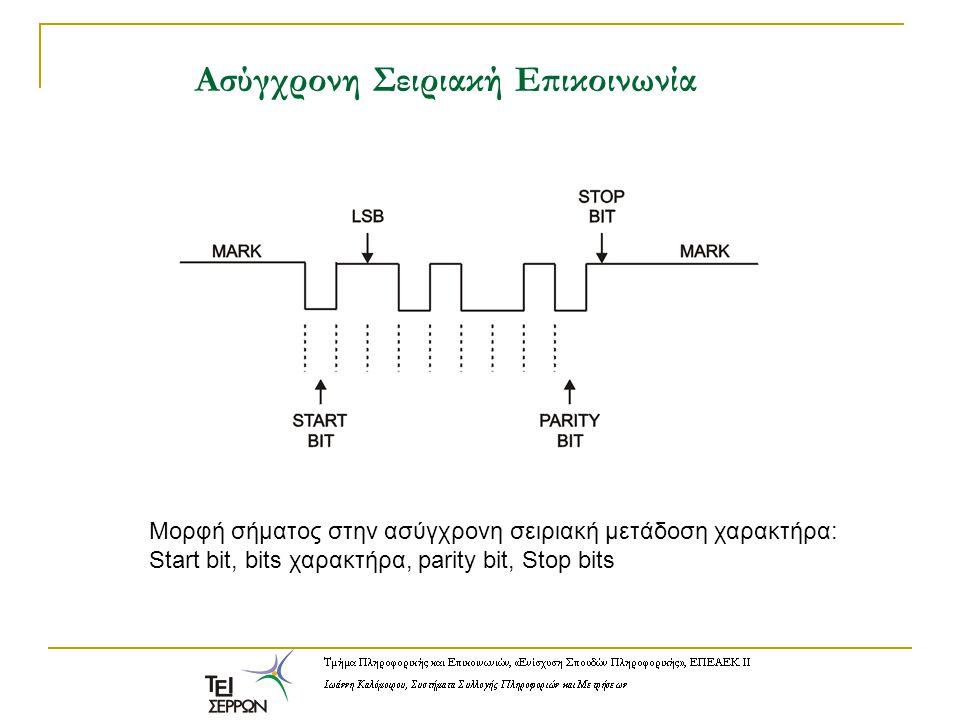 Mετατροπείς στάθμης: MAX232 Για να διασυνδέσουμε κάποια εφαρμογή με τη σειριακή θύρα, θα πρέπει να παρεμβάλουμε κυκλώ- ματα που θα μετατρέπουν τις στάθμες του πρωτοκόλλου RS-232 στις απλές στάθμες TTL.
