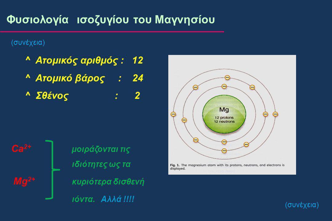 Jahnen-Dechent W et al, Clin Kidney J 2012; 5(Suppl 1): i3-i14 Φυσιολογία ισοζυγίου του Μαγνησίου (συνέχεια)