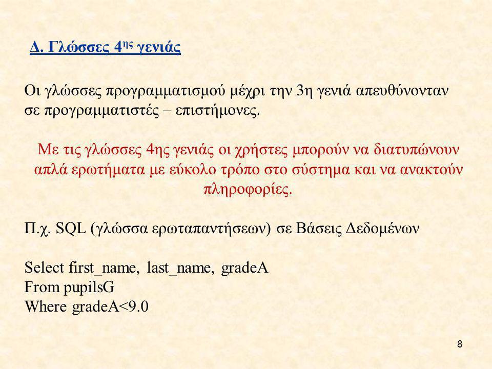19 Κατηγορίες λαθών Α.Συντακτικά Π.χ. όσο α>0 επανάληψη Β.