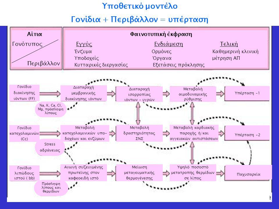Αρτηριακή Πίεση = Καρδιακή Παροχή x Περιφερικές Αντιστάσεις Παθογένεια υπέρτασης