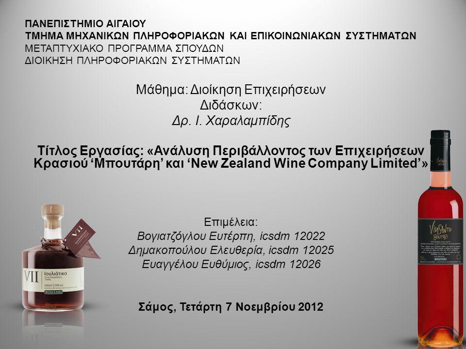 SWOT ΑΝΑΛΥΣΗ : Σοβαρές προοπτικές ανάπτυξης Οινοποιίας στην Ελλάδα ΔΥΝΑΤΑ ΣΗΜΕΙΑ Μακραίωνη παράδοση παραγωγής κρασιού και εξοικείωση των καταναλωτών με το προϊόν.
