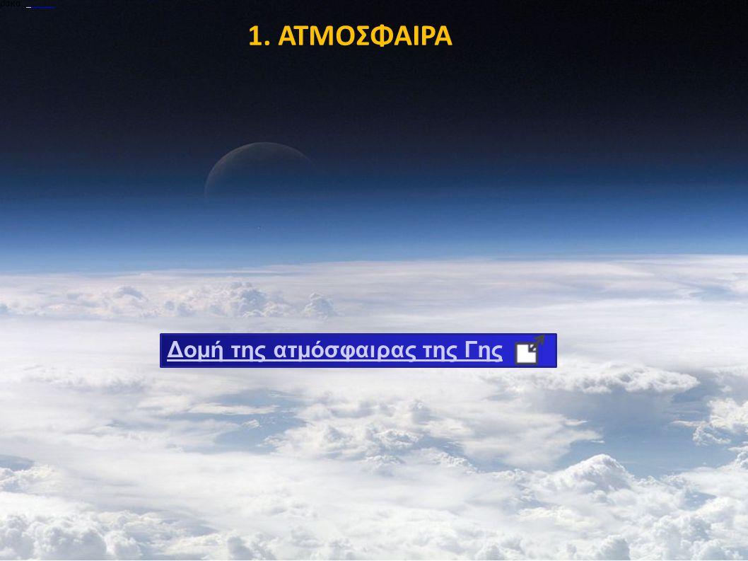 1. ΑΤΜΟΣΦΑΙΡΑ Δομή της ατμόσφαιρας της Γης ρακα.