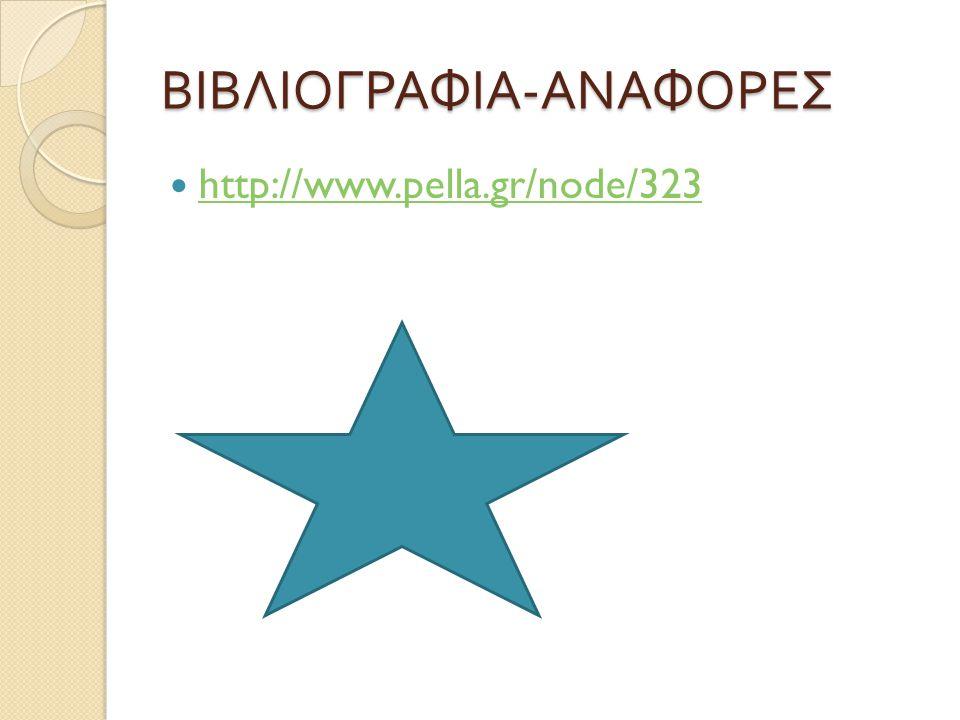 ΒΙΒΛΙΟΓΡΑΦΙΑ - ΑΝΑΦΟΡΕΣ http://www.pella.gr/node/323