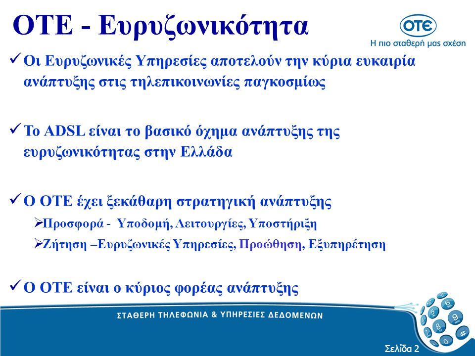 Σελίδα 3 Η Ελληνική αγορά είναι ακόμη στο ξεκίνημα, με χαμηλά ποσοστά :  Διείσδυσης PC στα νοικοκυριά (  30%)  Διείσδυσης Internet (  11,5%)  Διείσδυσης Ευρυζωνικών Υπηρεσιών στα νοικοκυριά (2,6%)  Διάχυσης της Τεχνολογίας ΒΡΙΣΚΟΜΑΣΤΕ ΣΤΗΝ ΑΡΧΗ ΤΗΣ ΕΥΡΥΖΩΝΙΚΟΤΗΤΑΣ