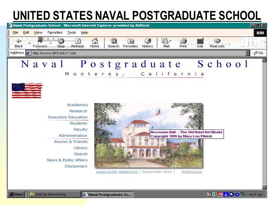 UNITED STATES NAVAL POSTGRADUATE SCHOOL