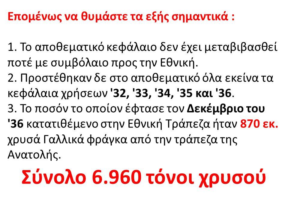 Αυτήν την ποσότητα χρυσού την πλήρωσαν οι Έλληνες της Μ.