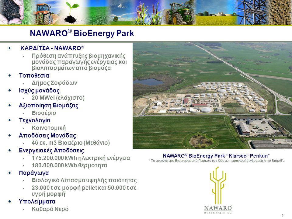 7 NAWARO ® BioEnergy Park  ΚΑΡΔΙΤΣΑ - NAWARO ®  Πρόθεση ανάπτυξης βιομηχανικής μονάδας παραγωγής ενέργειας και βιολιπασμάτων από βιομάζα  Τοποθεσία