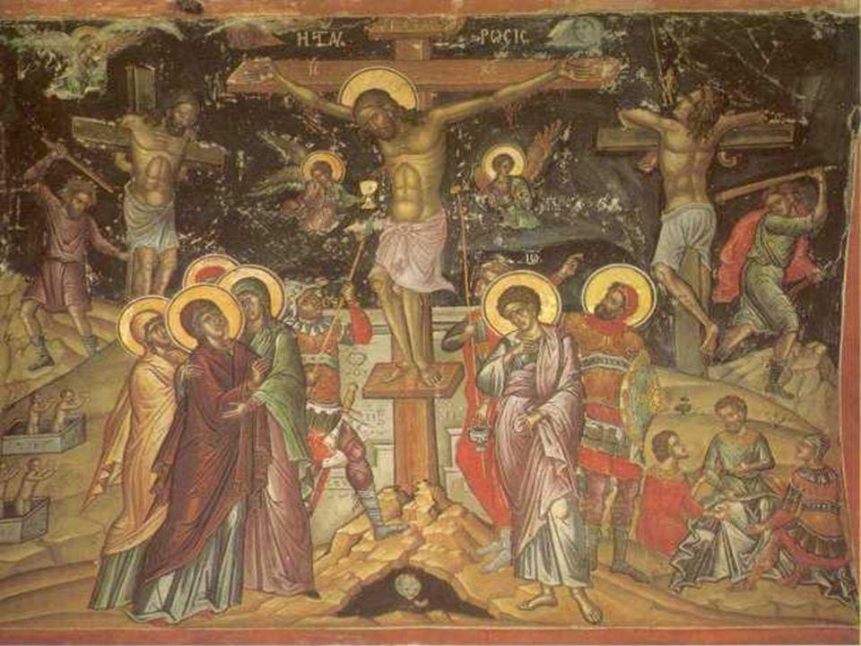 Σχέση ιερέα και Χριστού ( Μέγα Αρχιερέα) Ο Χριστός καθίσταται Μ ΜΜ Μέγας Αρχιερέας με τη Θυσία Του στο Σταυρό όπου είναι ο θύτης και το θύμα (ο αμνός