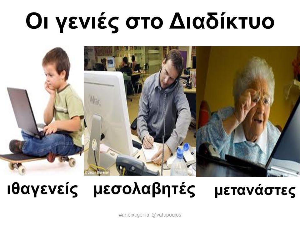 Οι εποχές Web 1.0 άνθρωποςανακοινώσεις Web 2.0Web 3.0 Δεδομένα #anoixtigenia, @vafopoulos