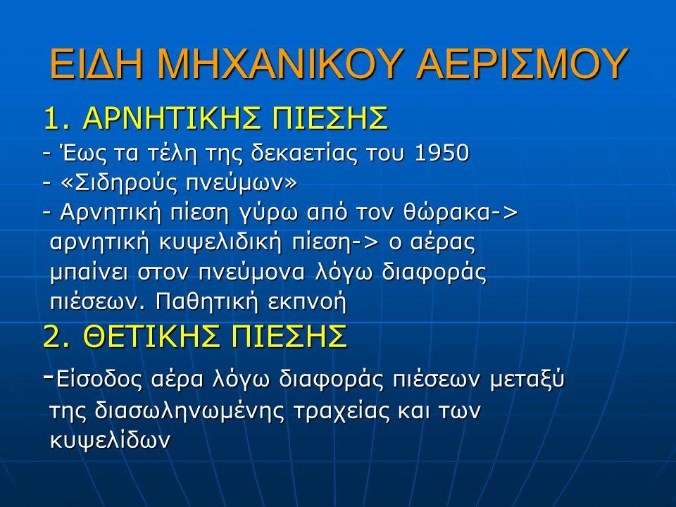 ΕΙΔΗ ΜΗΧΑΝΙΚΟΥ ΑΕΡΙΣΜΟΥ 1.