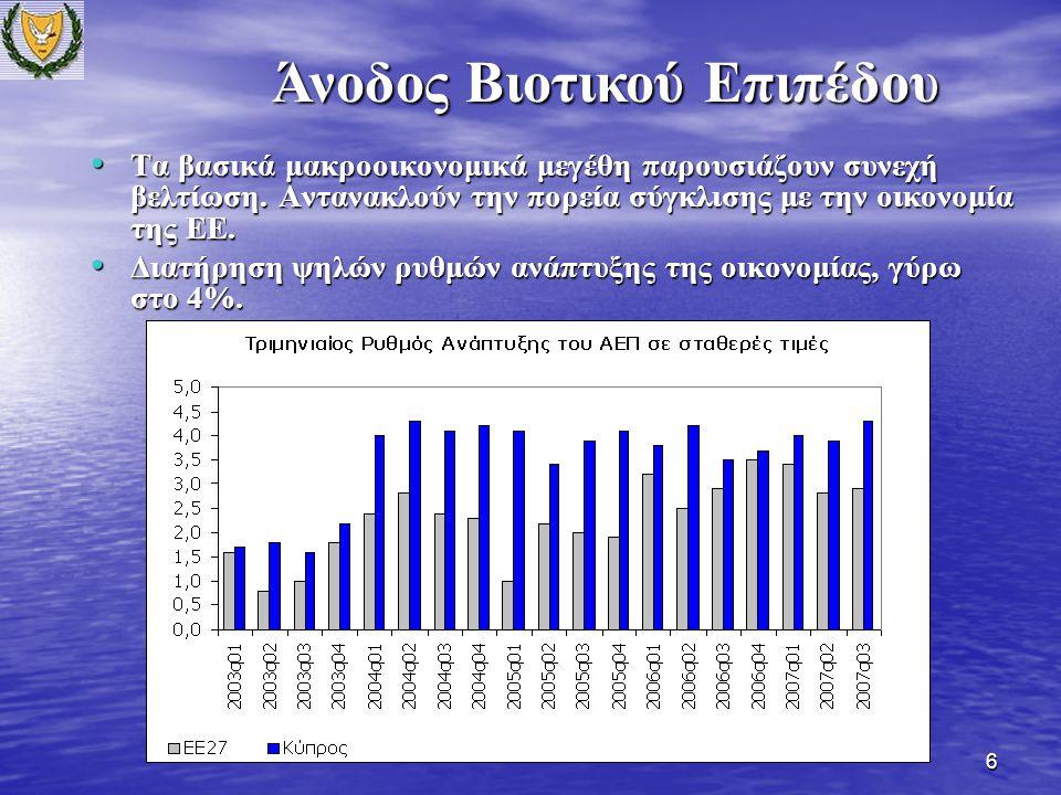17 Η πρόσφατη έρευνα του Ευρωβαρόμετρου (Σεπτέμβριος 2007) καταδεικνύει θετικά αποτελέσματα από τις μέχρι τώρα έρευνες.