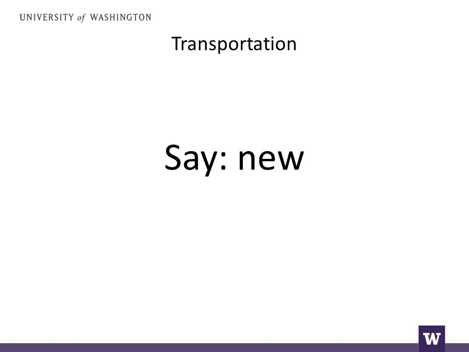 Transportation Say: new