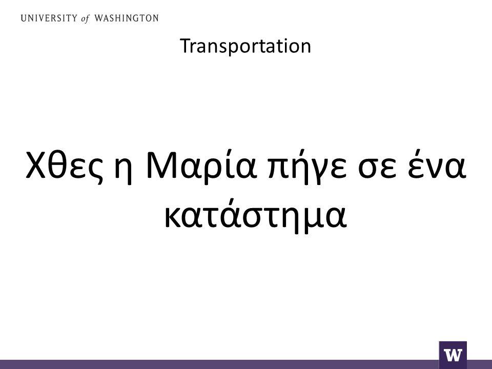 Transportation Μετά δοκίμασε μία άσπρη μπλούζα.