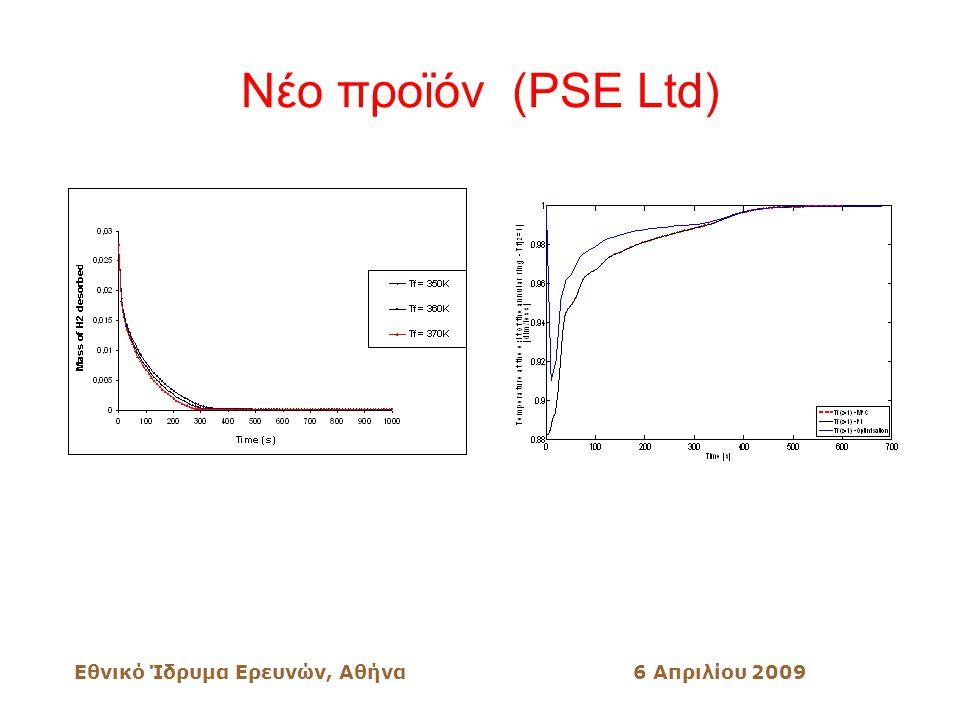 Εθνικό Ίδρυμα Ερευνών, Αθήνα6 Απριλίου 2009 Νέο προϊόν (PSE Ltd)