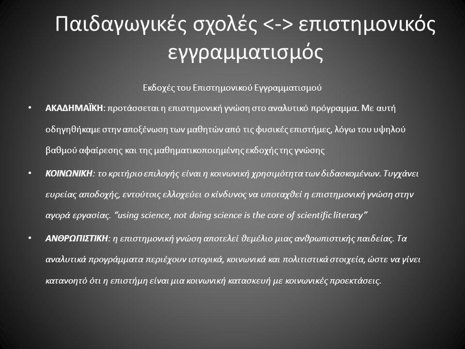 Διαστάσεις του Επιστημονικού Εγγραμματισμού Γνωσιακή Διάσταση Κειμενική Διάσταση Στοχαστικο- κριτική Διάσταση Εννοιολογική Γνώση (Conceptual Knowledge) Α.