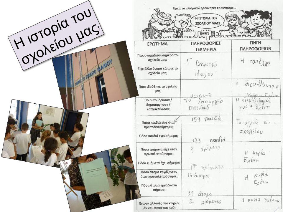 Η ιστορία του σχολείου μας ! Η ιστορία του σχολείου μας !