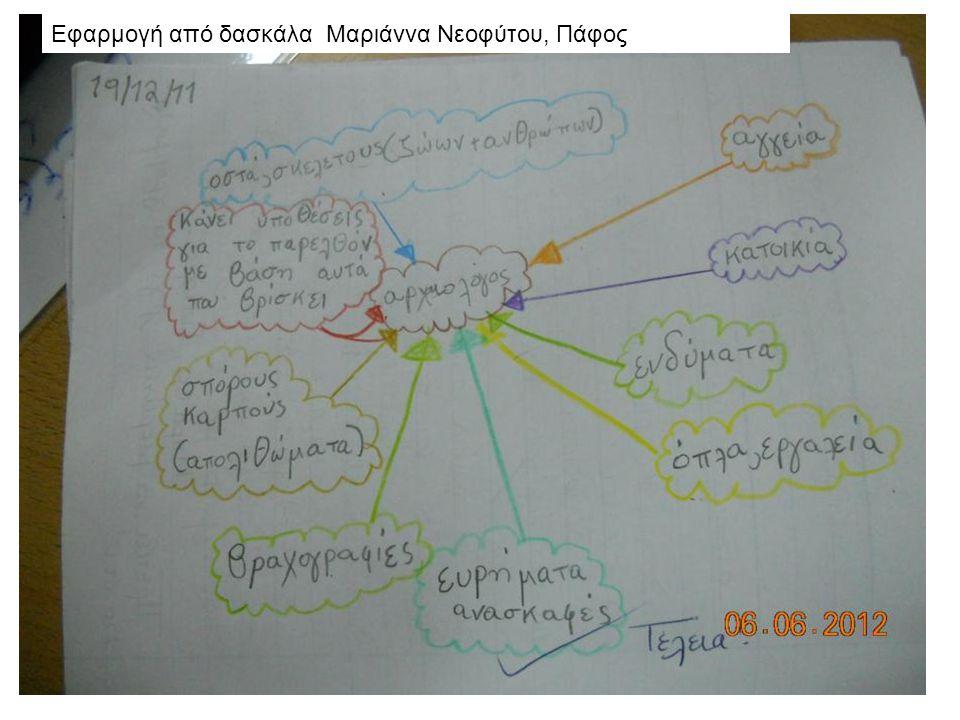 Εφαρμογή από δασκάλα Μαριάννα Νεοφύτου, Πάφος