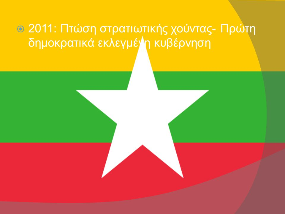  2011: Πτώση στρατιωτικής χούντας- Πρώτη δημοκρατικά εκλεγμένη κυβέρνηση