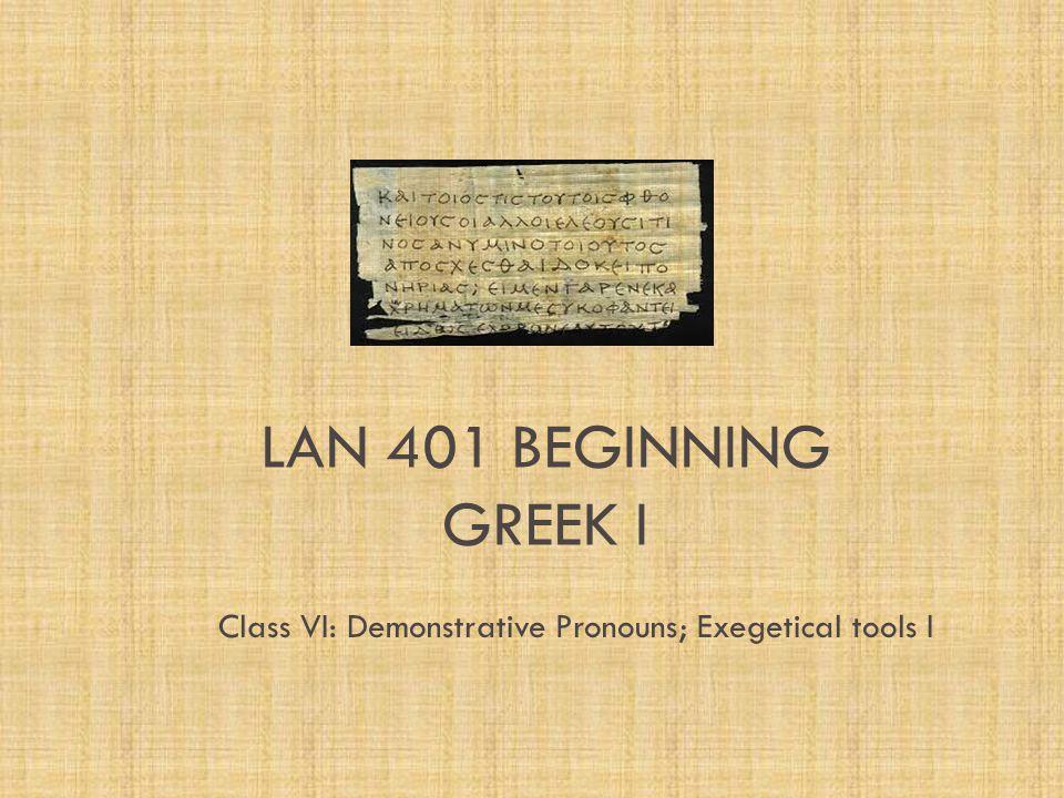 Greek Language Tools ii.