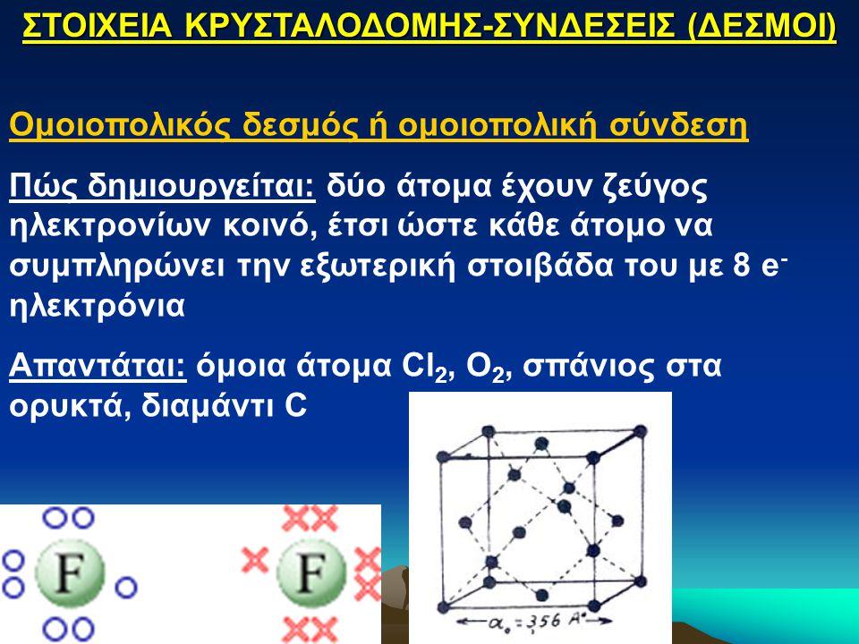 Ομοιοπολικός δεσμός ή ομοιοπολική σύνδεση Πώς δημιουργείται: δύο άτομα έχουν ζεύγος ηλεκτρονίων κοινό, έτσι ώστε κάθε άτομο να συμπληρώνει την εξωτερι
