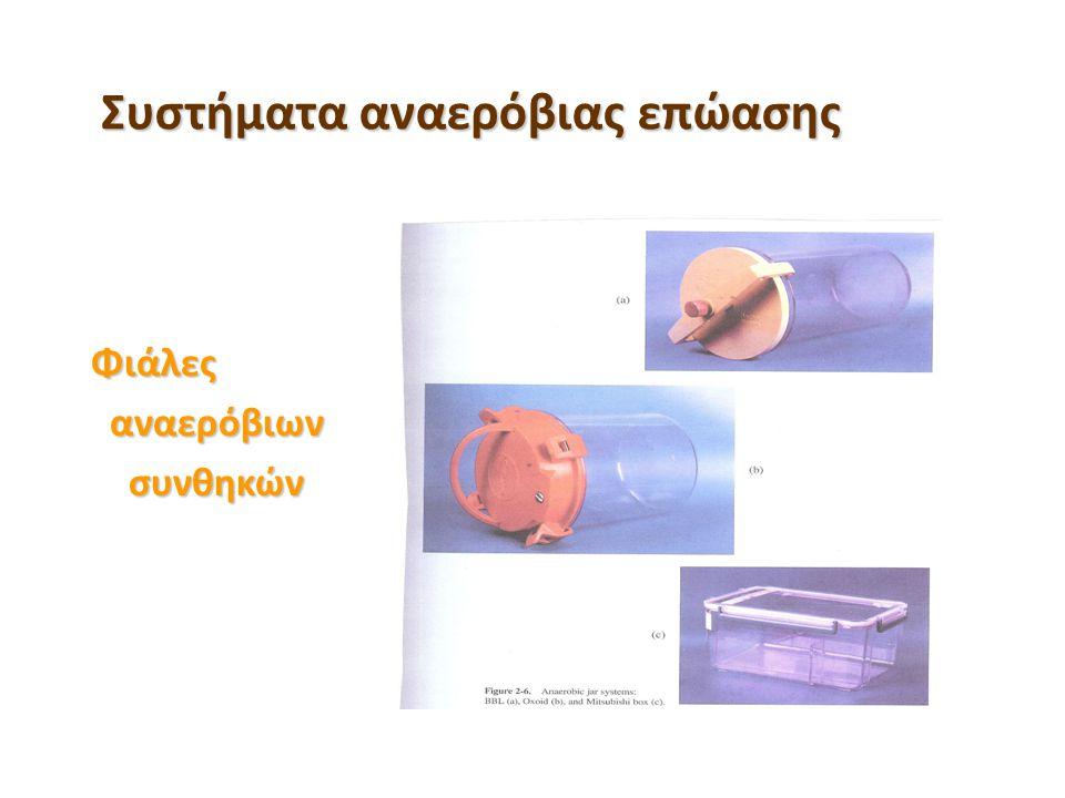 Συστήματα αναερόβιας επώασης Φιάλες αναερόβιων αναερόβιων συνθηκών συνθηκών
