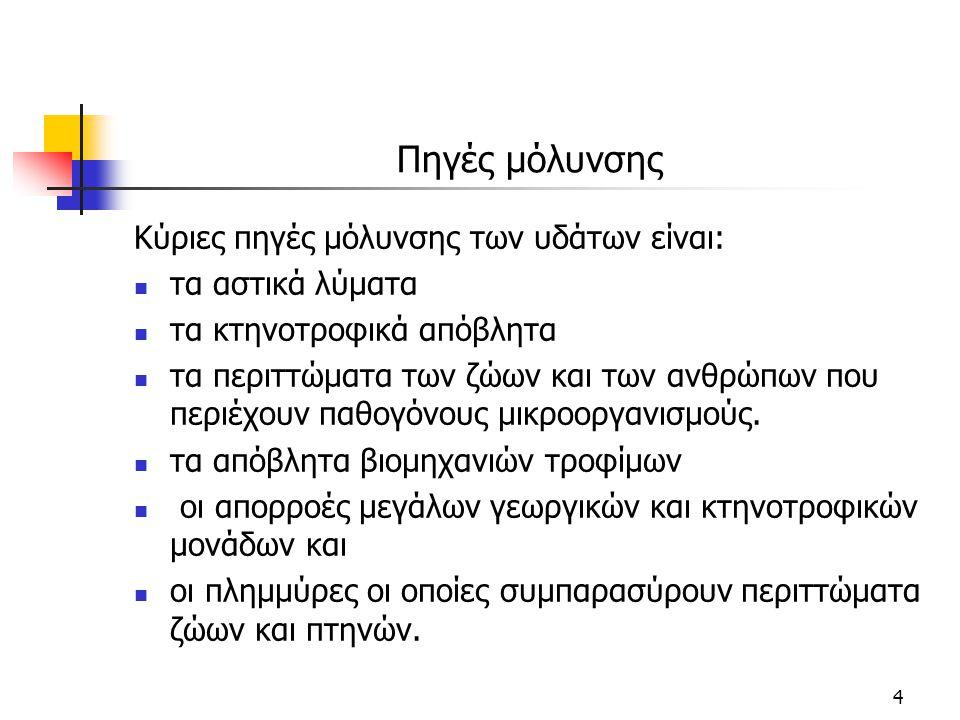 ΤΕΧΝΙΚΕΣ ΕΠΕΞΕΡΓΑΣΙΑΣ ΝΕΡΟΥ ΒΑΣΙΚΕΣ ΔΙΕΡΓΑΣΙΕΣ 5