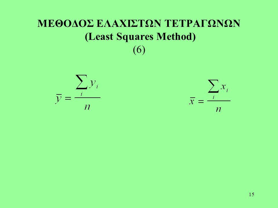 15 ΜΕΘΟΔΟΣ ΕΛΑΧΙΣΤΩΝ ΤΕΤΡΑΓΩΝΩΝ (Least Squares Method) (6)