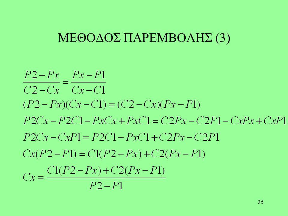 36 ΜΕΘΟΔΟΣ ΠΑΡΕΜΒΟΛΗΣ (3)