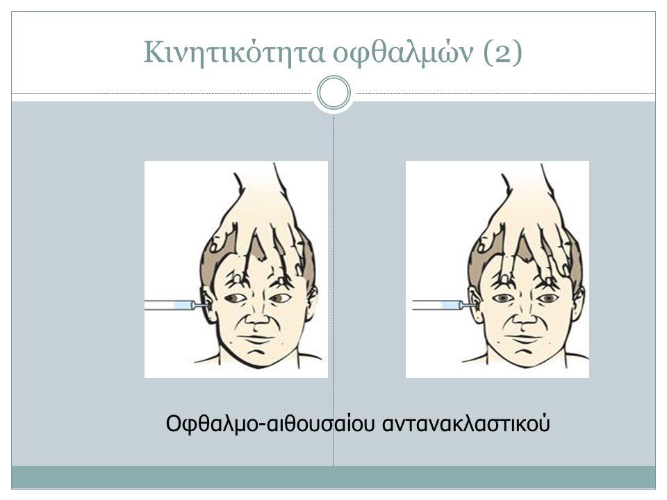 Κινητικότητα οφθαλμών (2) Οφθαλμο-αιθουσαίου αντανακλαστικού