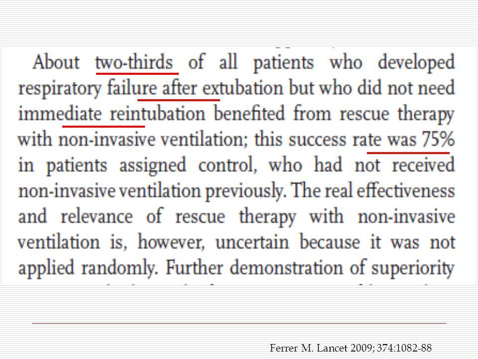 Ferrer M. Lancet 2009; 374:1082-88
