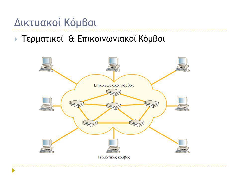  Τερματικοί & Επικοινωνιακοί Κόμβοι Δικτυακοί Κόμβοι